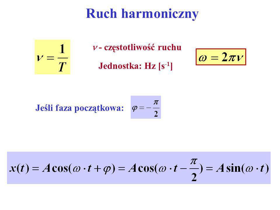 Ruch harmoniczny  - częstotliwość ruchu Jednostka: Hz [s-1]